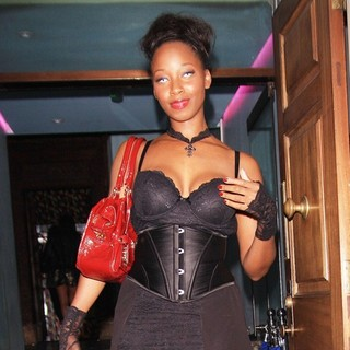 Jamelia in Celebrities Leaving Low Club After Attending The Angel Halloween Party