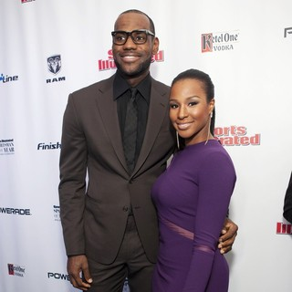 LeBron James, Savannah Brinson in 2012 Sports Illustrated Sportsman of The Year Award Presentation