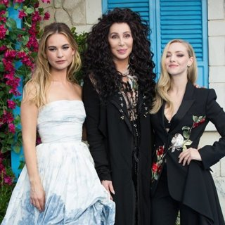 Lily James, Cher, Amanda Seyfried in The World Premiere of Mamma Mia! Here We Go Again - Arrivals