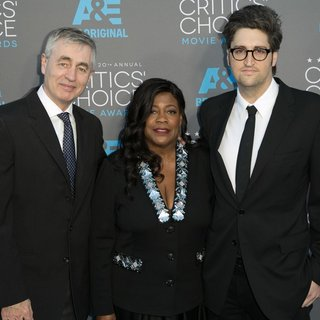 Steve James, Chaz Ebert, Garrett Basch in 20th Annual Critics' Choice Movie Awards - Arrivals