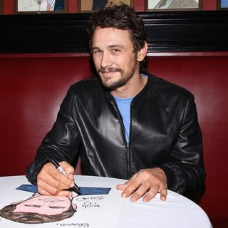 James Franco in James Franco at Sardi's Restaurant for The Hanging of His Portrait Ceremony