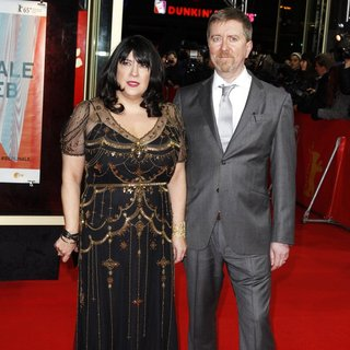 E. L. James, Niall Leonard in 65th Berlin International Film Festival - Fifty Shades of Grey Premiere - Arrivals