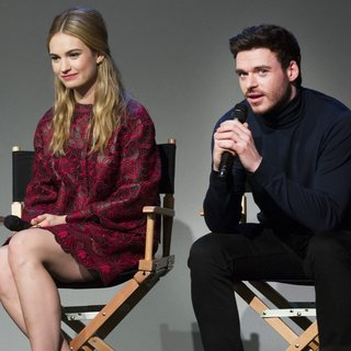 Lily James and Richard Madden at Apple Soho Store