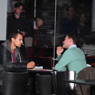 Theo James, Will Young in On The Set of Drama Bedlam