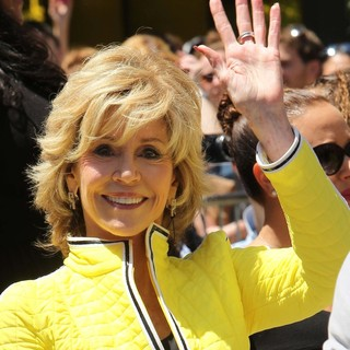 Jane Fonda in Jennifer Lopez Is Honoured with The 2,500th Star on The Hollywood Walk of Fame