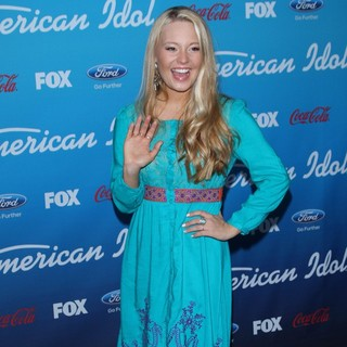 Janelle Arthur in FOX's American Idol Finalists Party