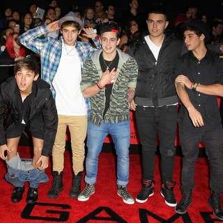 Janoskians in The Hunger Games: Catching Fire Premiere