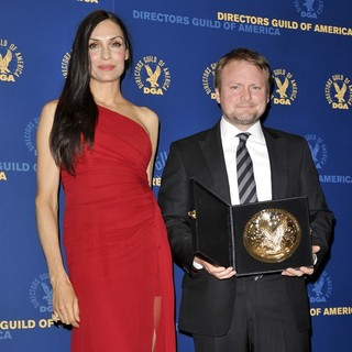 Famke Janssen, Rian Johnson in 65th Annual Directors Guild of America Awards - Press Room