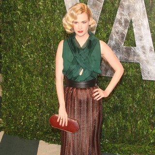 January Jones in 2012 Vanity Fair Oscar Party - Arrivals