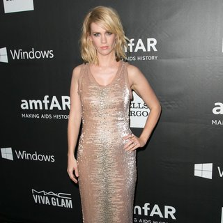 January Jones in 2014 amfAR LA Inspiration Gala
