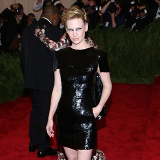 January Jones in PUNK: Chaos to Couture Costume Institute Gala