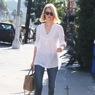 January Jones in January Jones at The Voting Polling Station for The US Presidential Election