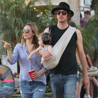Alicia Silverstone, Bear Blu Jarecki, Christopher Jarecki in Celebrities at The 2012 Coachella Valley Music and Arts Festival - Week 2 Day 2