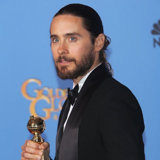 Jared Leto, 30 Seconds to Mars in 71st Annual Golden Globes - Press Room