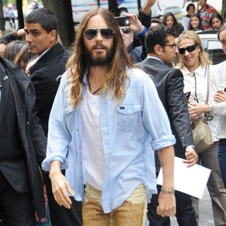 Jared Leto, 30 Seconds to Mars in Paris Fashion Week Haute Couture Fall-Winter 2014-2015 - Chanel - Outside Arrivals