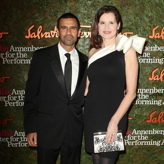 Reza Jarrahy, Geena Davis in Opening Night Gala of The Wallis Annenberg Center for The Performing Arts