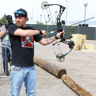 Jason Aldean in ACM and Cabela's Great Outdoors Archery Event During The ACM Experience
