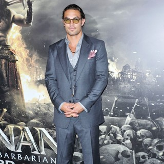 Jason Momoa in The LA Premiere of Conan the Barbarian