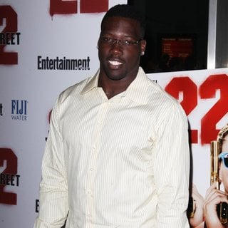 Jason Pierre-Paul in New York Premiere of 22 Jump Street