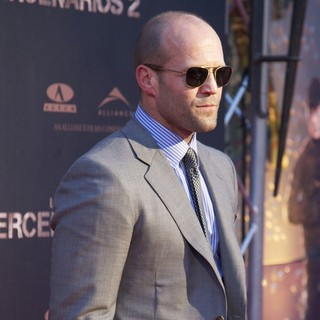 Jason Statham in Spanish The Expendables 2 Premiere