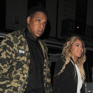Jay-Z, Beyonce Knowles in Beyonce Knowles and Jay-Z Enjoy A Night Out at The Arts Club
