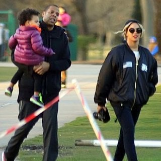 Jay-Z, Blue Ivy Carter, Beyonce Knowles in Beyonce and Jay-Z Enjoy Family Time