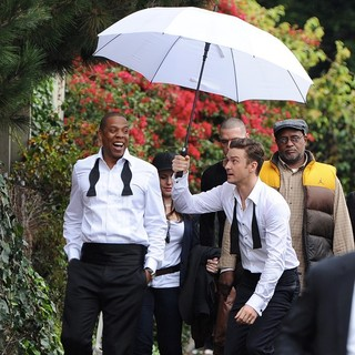 Jay-Z, Justin Timberlake in Suit and Tie Set Music Video