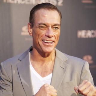 Jean-Claude Van Damme in Spanish The Expendables 2 Premiere