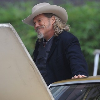 Jeff Bridges in Filming Scenes for The Movie R.I.P.D.