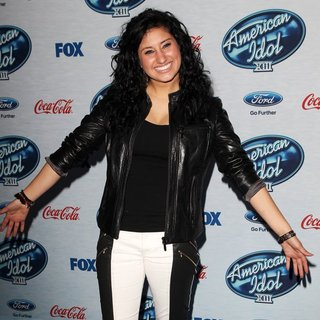 Jena Irene in FOX's American Idol XIII Finalists Party