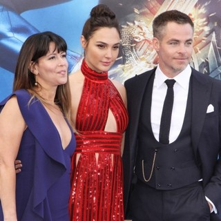Patty Jenkins, Gal Gadot, Chris Pine in Wonder Woman World Premiere