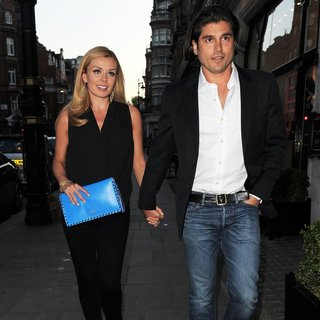 Katherine Jenkins Arrives at Scott's Restaurant with Andrew Levitas