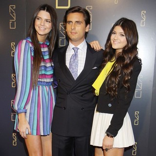 Kendall Jenner, Scott Disick, Kylie Jenner in The RYU Restaurant Grand Opening