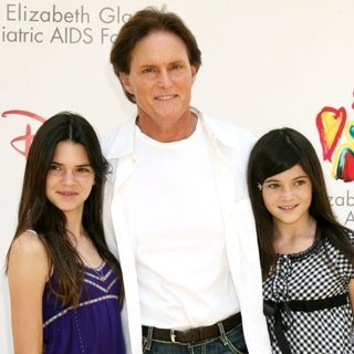 Kendall Jenner, Bruce Jenner, Kylie Jenner in The Elizabeth Glaser Pediatic Aids Foundation