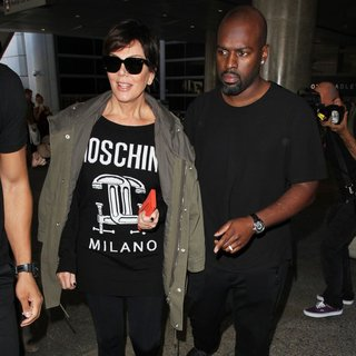 Kris Jenner and Corey Gamble Arrive at Los Angeles International Airport