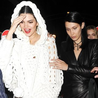 Kendall Jenner Enjoys A Night Out with Bella Hadid