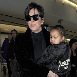 Kris Jenner - Kris Jenner and North West Arrive at Heathrow Airport