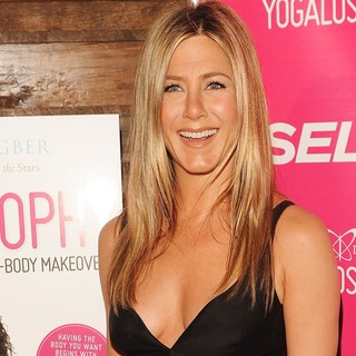 Jennifer Aniston in Celebrate Mandy Ingber's Book Yogalosophy: 28 Days to The Ultimate Mind-Body Makeover