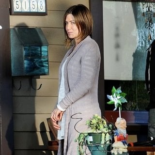 Jennifer Aniston - On The Set of Movie Cake