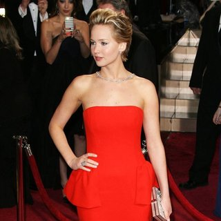 Jennifer Lawrence in The 86th Annual Oscars - Red Carpet Arrivals