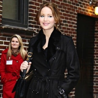 Jennifer Lawrence in Celebrities for The Late Show with David Letterman