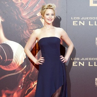 Jennifer Lawrence in Madrid's Premiere of The Hunger Games: Catching Fire