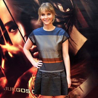 Jennifer Lawrence in The Spanish Premiere of The Hunger Games - Arrivals