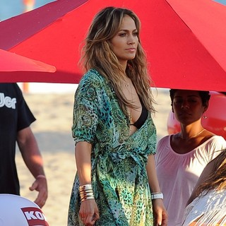 Jennifer Lopez in Jennifer Lopez Filming A TV Commercial