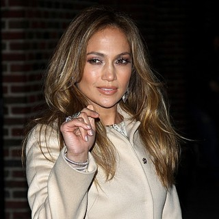 Jennifer Lopez in The Late Show with David Letterman - Arrivals