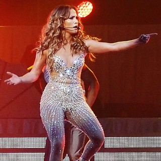 Jennifer Lopez in Jennifer Lopez Performing Live in Concert on The Opening Night of Her Tour with Enrique Iglesias