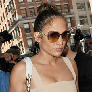 Jennifer Lopez in Jennifer Lopez and Casper Smart Heads Out to Celebrate Her 43rd Birthday