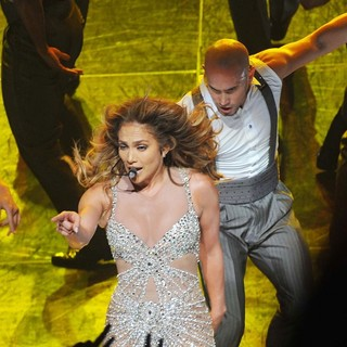 Jennifer Lopez in Jennifer Lopez Performing on Stage During Her World Tour Dance Again