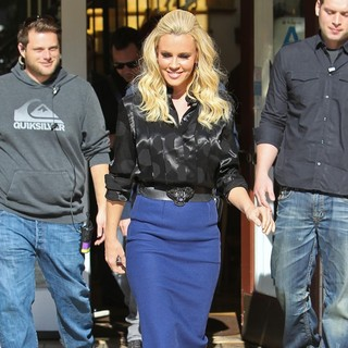 Jenny McCarthy in Celebrities at The Grove for Extra