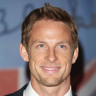 Jenson Button in The BRIT Awards 2012 - Arrivals - jenson-button-brit-awards-2012-01